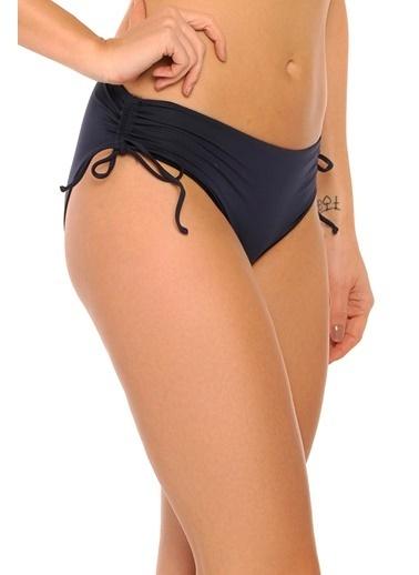Reflections Mix Match Yandan Büzgülü Bağcıklı Düz Bikini Alt Lacivert